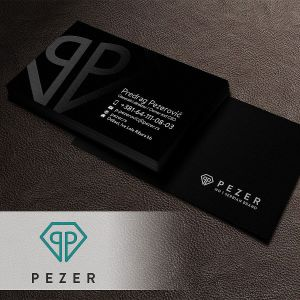 PEZER UV Coating Business Card